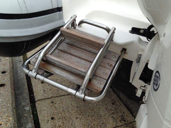 pascoe sr7 rib with 2013 evinrude 250 ho - bathing ladder_l