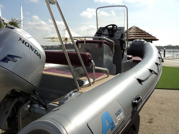 azure 520 rib with honda 75hp outboard engine - looking forwards 9_l
