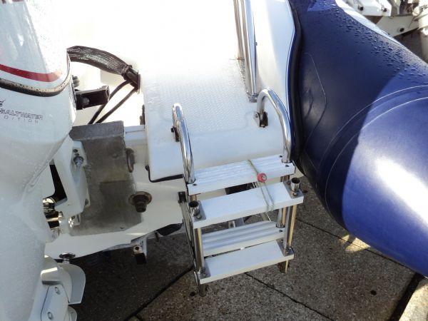 cobra 6m rib with evinrude 150hp - boarding ladder_l