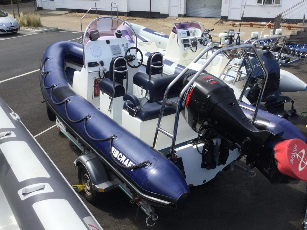 Brokerage - 1597 - Ribcraft 585 with Suzuki DF115 and trailer - Aft port