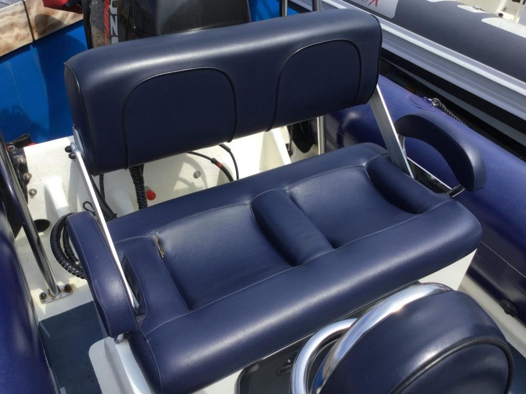 Brokerage - 1597 - Ribcraft 585 with Suzuki DF115 and trailer - Rear bench