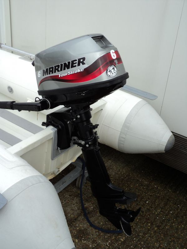 ballistic 260 aluminum hulled rib with mariner 6hp - outboard_l