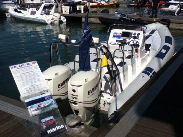 ballistic 7.8 twin rig rib with twin evinrude e-tec 175hp outboard engines - stern 1_l