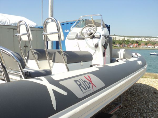 rib-x 650 rib with yamaha 150hp outboard engine - looking forwards 11_l