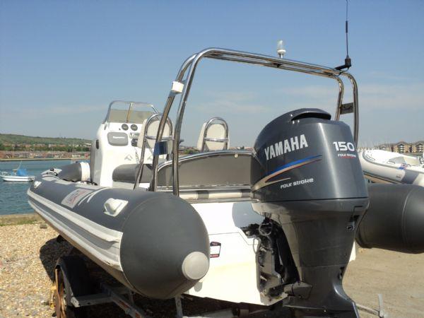 rib-x 650 rib with yamaha 150hp outboard engine - transom 10_l