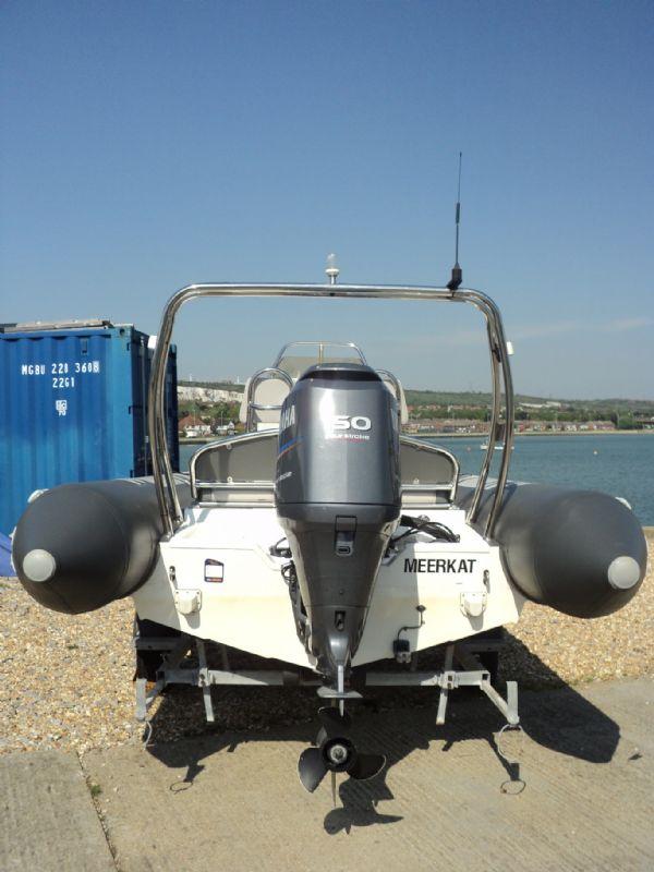 rib-x 650 rib with yamaha 150hp outboard engine - transom 8_l