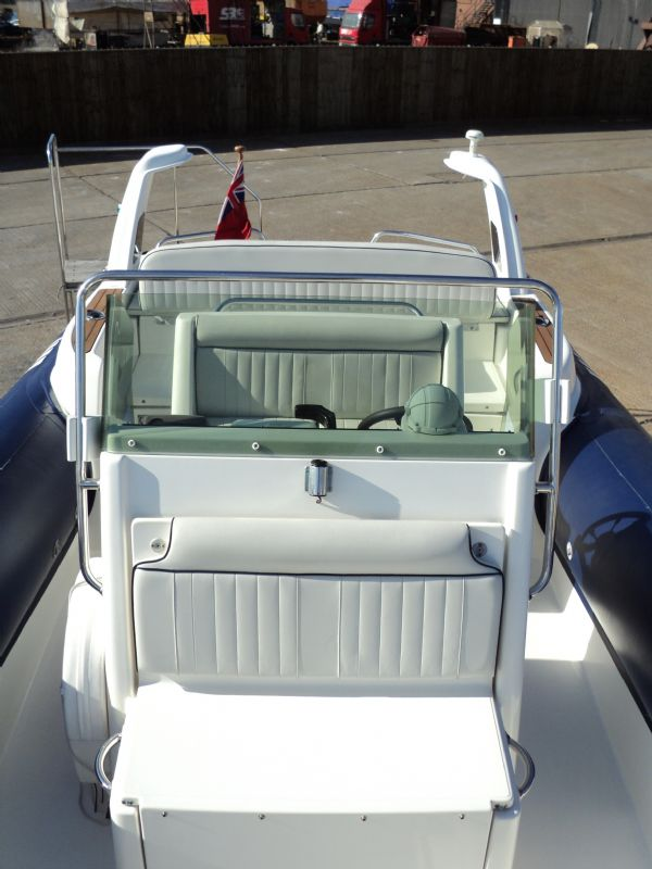 marline 22 rib with mercruiser inboard diesel engine - bow looking back 8_l