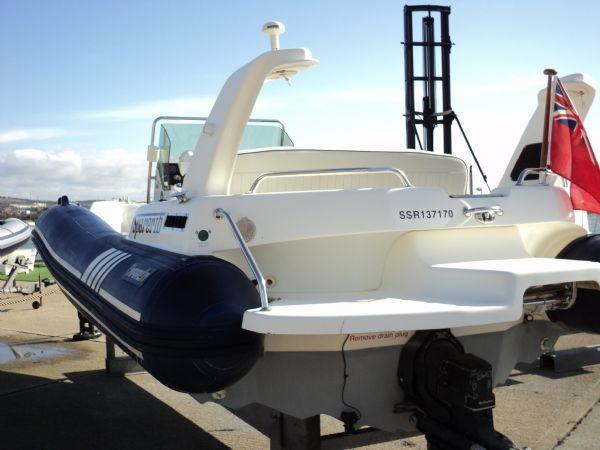 marline 22 rib with mercruiser inboard diesel engine - transom 12_l