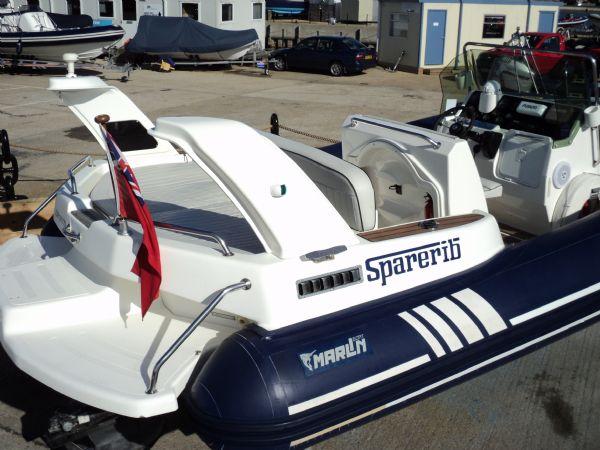 marline 22 rib with mercruiser inboard diesel engine - transom 9_l
