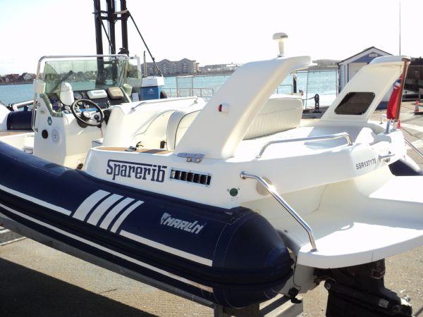 marline 22 rib with mercruiser inboard diesel engine - transom port 13_l