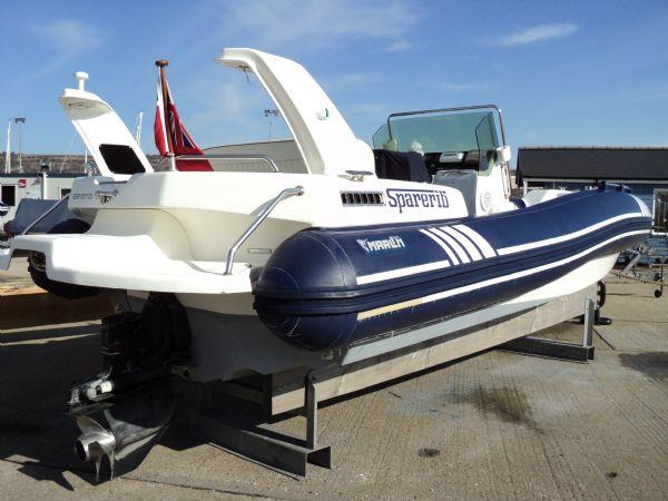 marline 22 rib with mercruiser inboard diesel engine - transom starboard 14_l