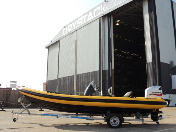 6.3m leeway rib with mariner optimax 135hp outboard engine left side profile 11_l