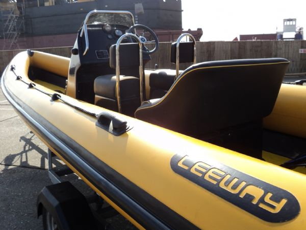 6.3m leeway rib with mariner optimax 135hp outboard engine port looking forwards 10_l
