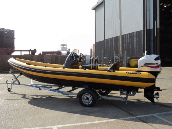 6.3m leeway rib with mariner optimax 135hp outboard engine port side profile 6_l