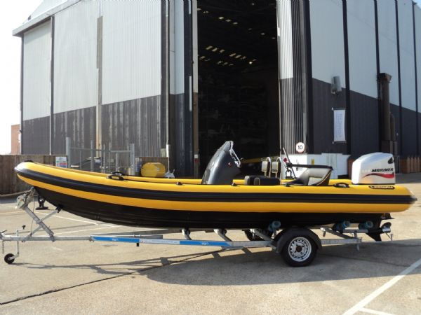 6.3m leeway rib with mariner optimax 135hp outboard engine side profile 1_l