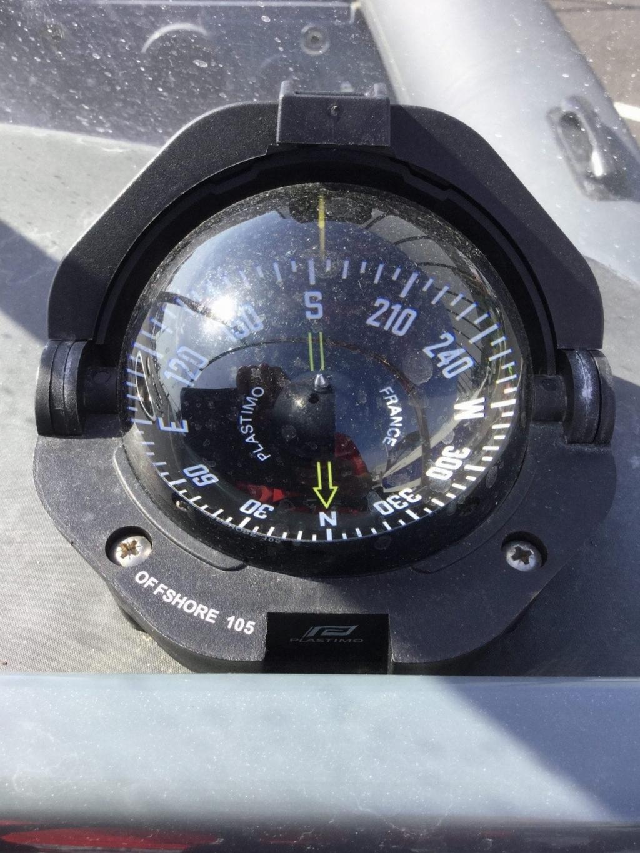 Brokerage - 1588 - Shearwater 6.8 RIB & Evinrude G2 ETEC 250 - Compass