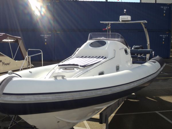 Click to see Ribtec 9.2m Grand Tourer Cabin RIB with Twin 275HP Mercury Verado Outboard Engines