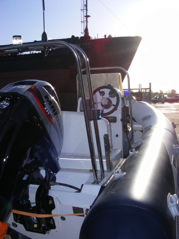 wetline 480 rib with mariner 40hp outboard engine - looking forwards starboard 7_l