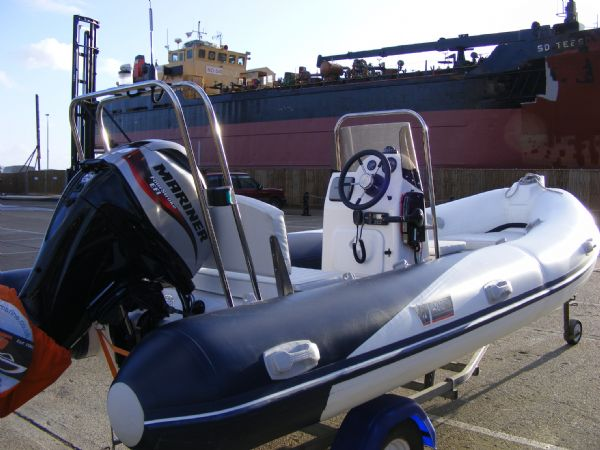 wetline 480 rib with mariner 40hp outboard engine - starboard profile 3_l