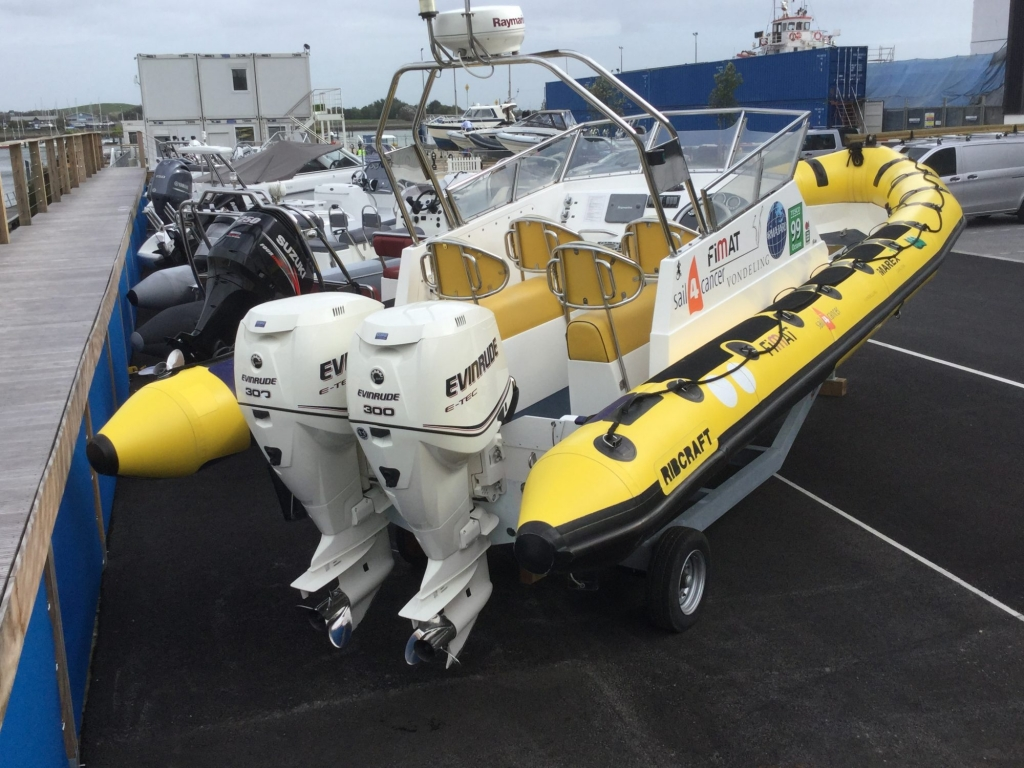 Brokerage - 1527 - Ribcraft 8.8 RIB with twin ETEC 300 engines - Rear Starboard quarter