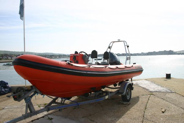 Click to see Used Tornado 5.4m Sport RIB with Yamaha 80HP 4 Stroke Outboard Engine