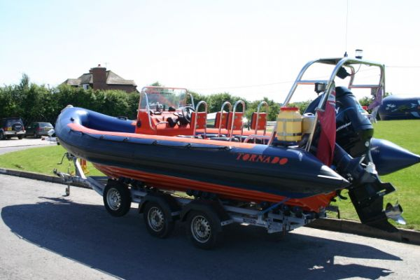 Click to see Used Tornado 7.5m RIB / Power Boat with Mercury 225HP Optimax Engine
