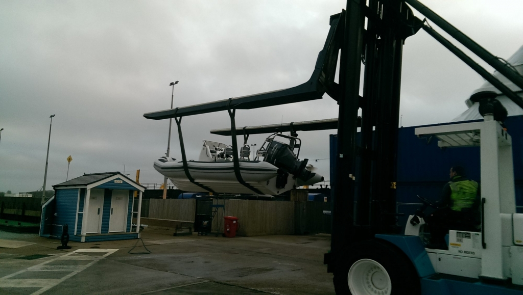 1365 - Ballistic 650 RIB with Yamaha F200G Outboard - In slings