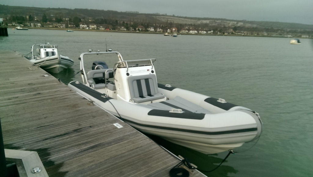 1365 - Ballistic 650 RIB with Yamaha F200G Outboard - On water from front