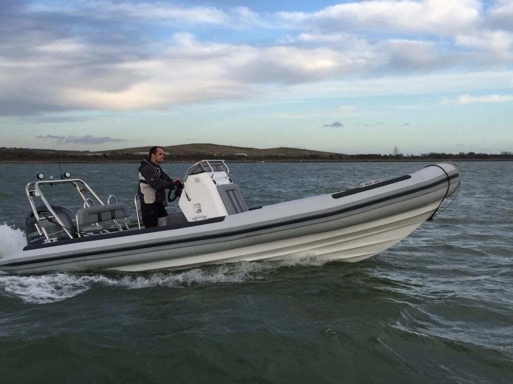 1365 - Ballistic 650 RIB with Yamaha F200G Outboard - Under way