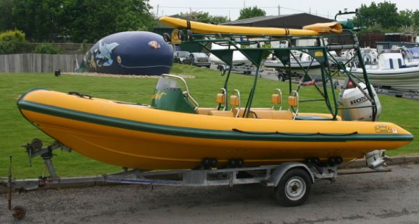 Click to see Used Ribtec Camel 6.55m RIB / Sports Boat with Honda 130HP Engine