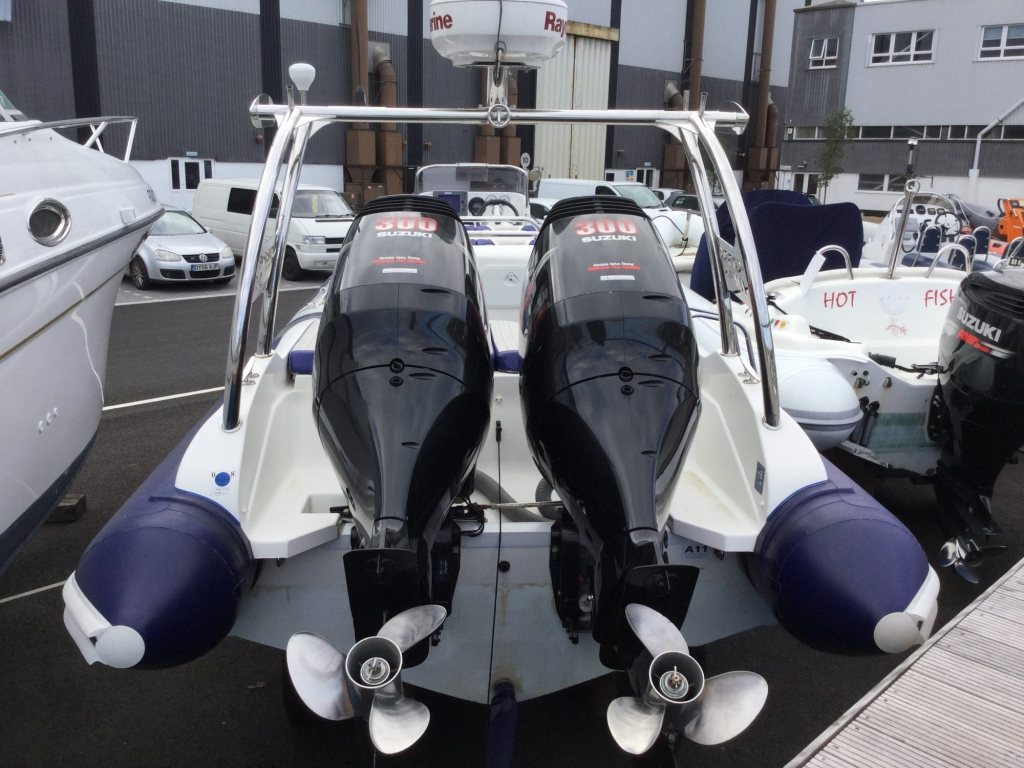 SOLD - Used Cobra 9 5 RIB with twin Suzuki DF300 Outboard