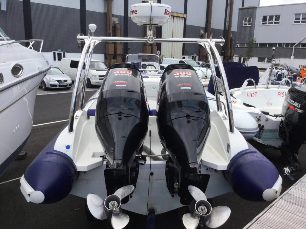 1509 - Stock - Cobra 9.5 RIB with twin Suzuki DF300 engines - Aft 2