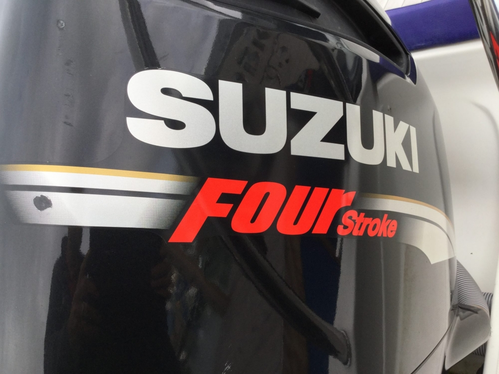 1509 - Stock - Cobra 9.5 RIB with twin Suzuki DF300 engines - Suzuki cowling