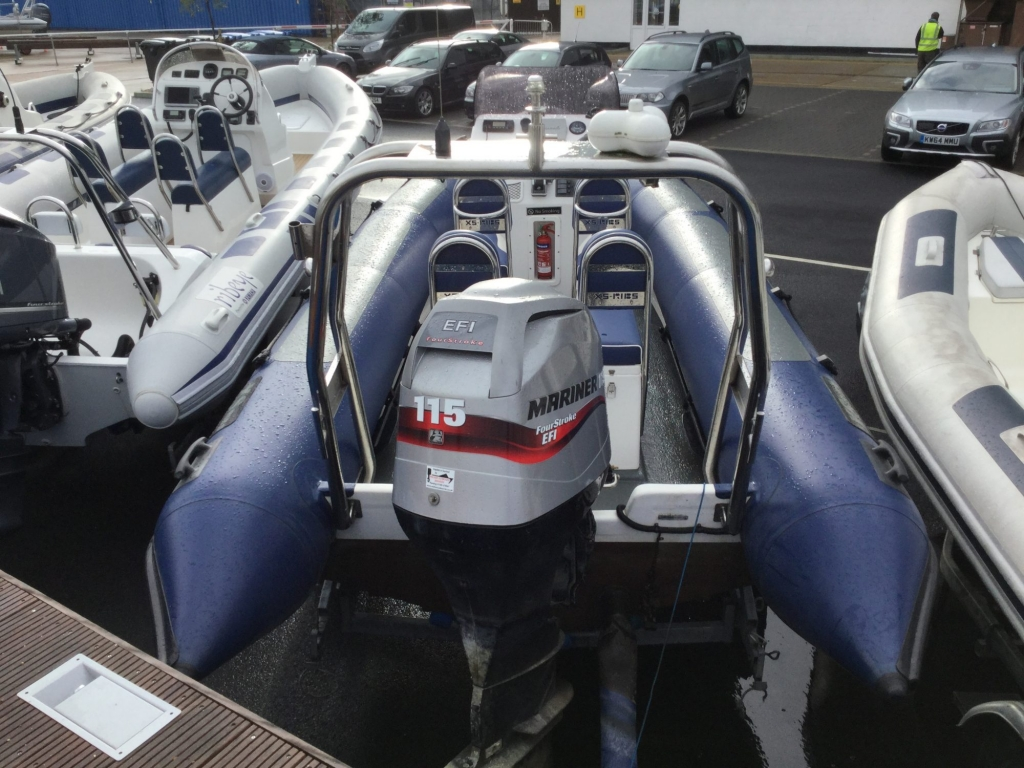 Stock - 1548 - XS600 RIB with Mariner 115hp engine and trailer - Stern
