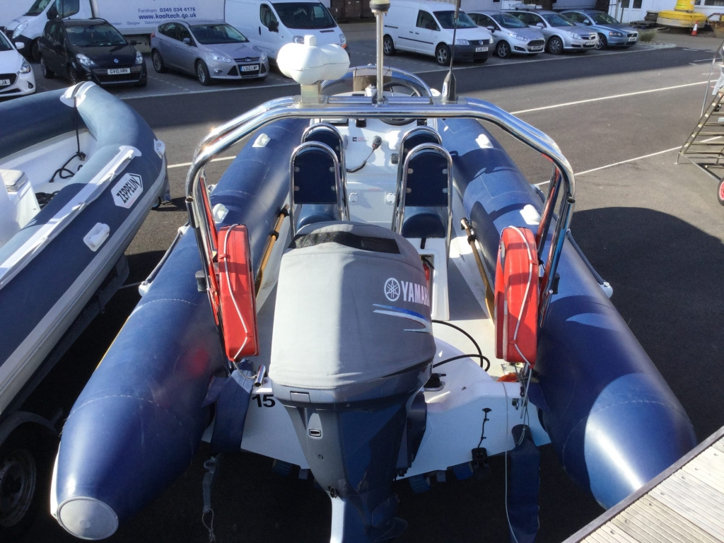Stock - 1544 - Ribtec 585 with Yamaha F100DET engine and trailer - Aft