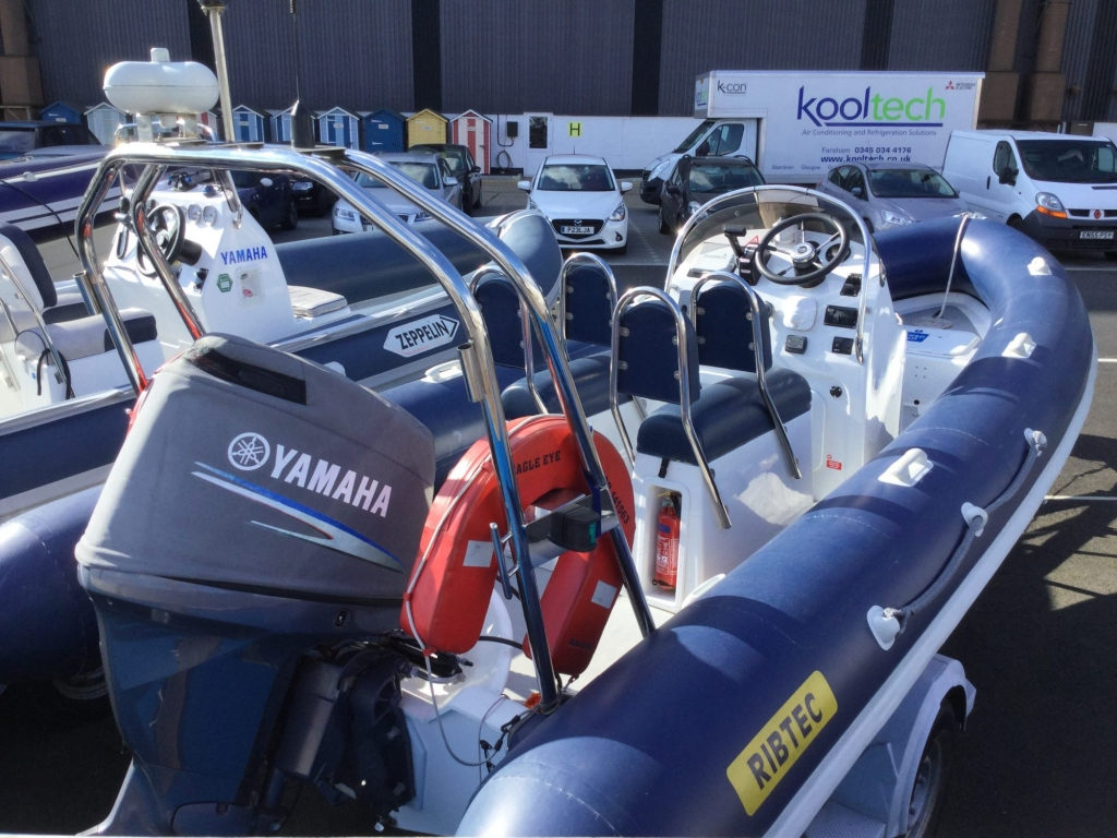 Stock - 1544 - Ribtec 585 with Yamaha F100DET engine and trailer - Aft Strbrd 2