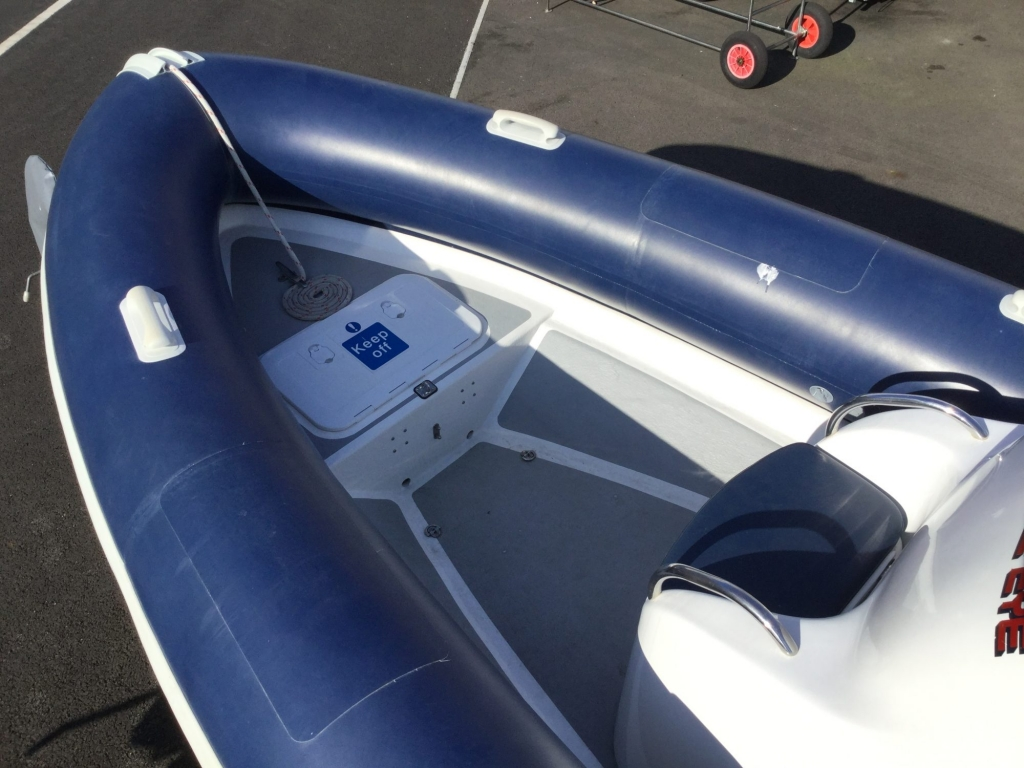 Stock - 1544 - Ribtec 585 with Yamaha F100DET engine and trailer - Bow area