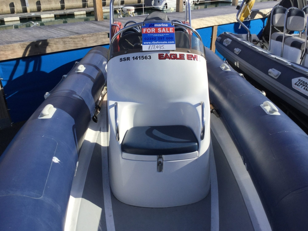 Stock - 1544 - Ribtec 585 with Yamaha F100DET engine and trailer - Consle seat