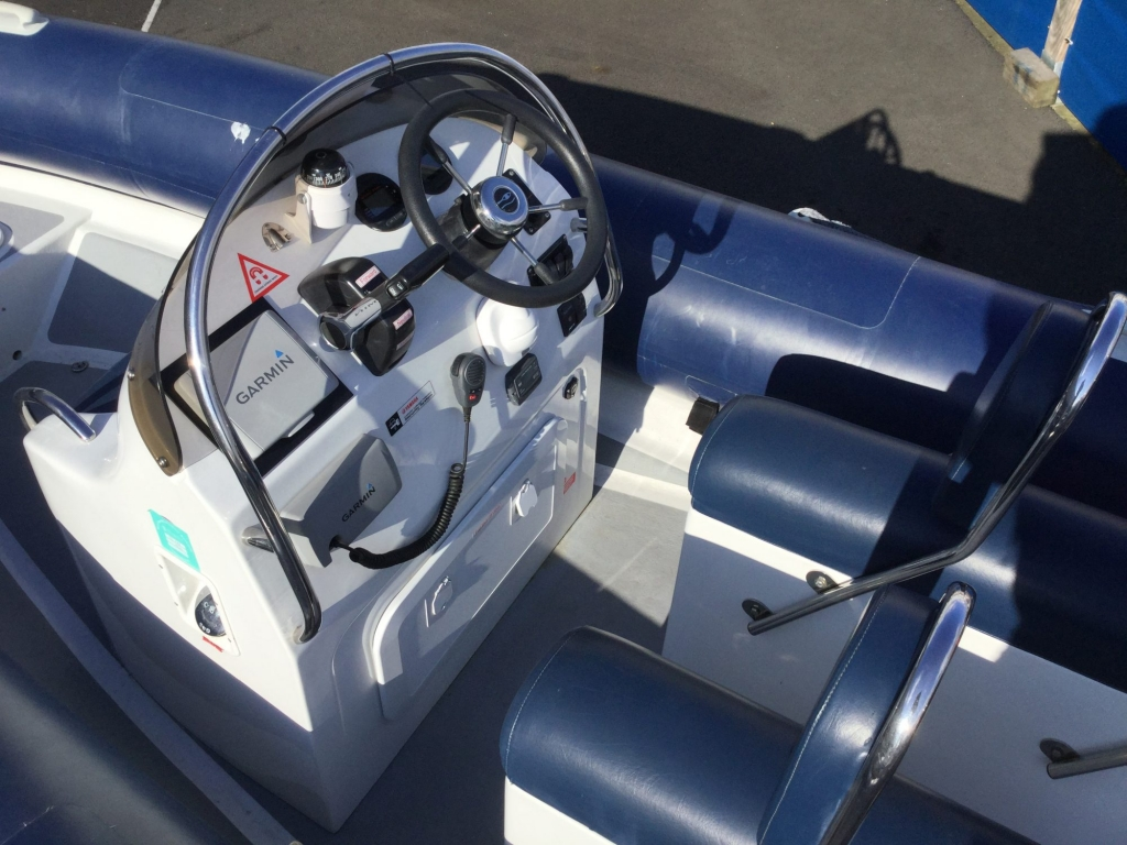 Stock - 1544 - Ribtec 585 with Yamaha F100DET engine and trailer - Helm Seating