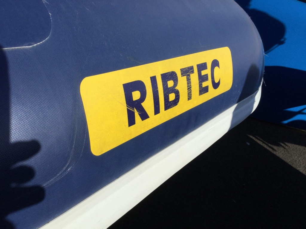 Stock - 1544 - Ribtec 585 with Yamaha F100DET engine and trailer - Ribtec Logo