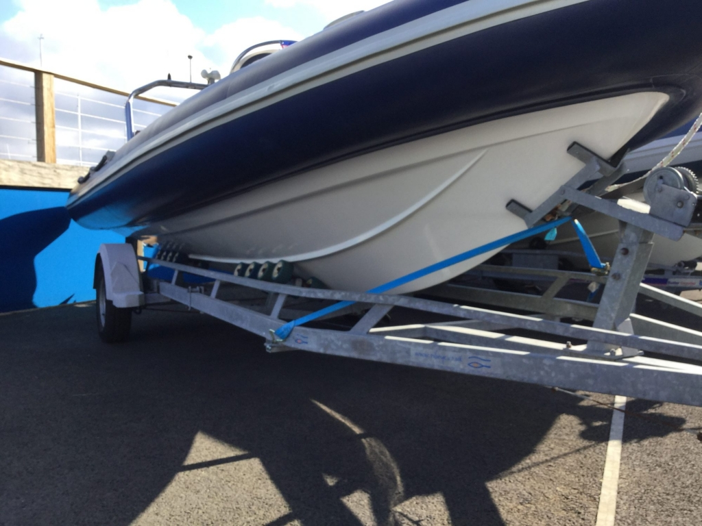 Stock - 1544 - Ribtec 585 with Yamaha F100DET engine and trailer - Starboard Hull