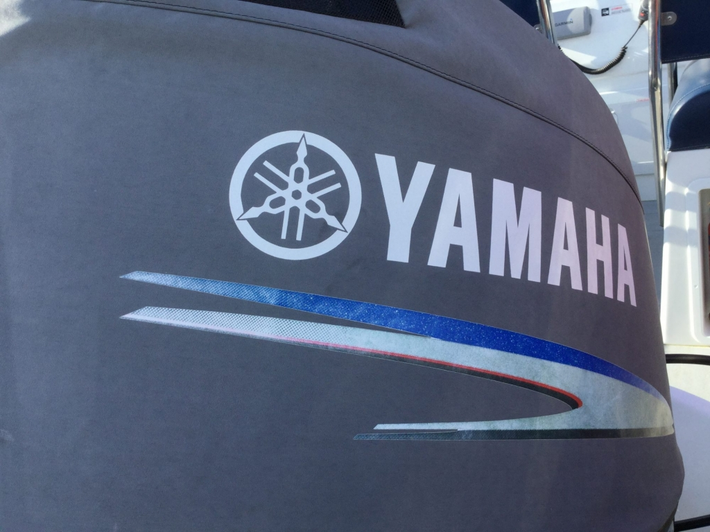 Stock - 1544 - Ribtec 585 with Yamaha F100DET engine and trailer - Yamaha Logo