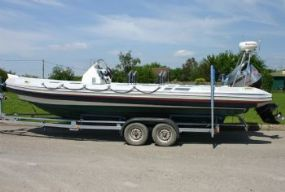 Click to see Used Ribeye 7.85m RIB Boat / Speedboat with Mariner Optimax 225HP Engine