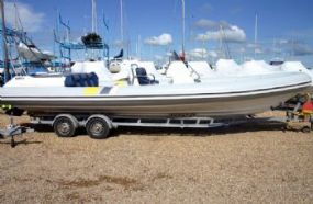 Click to see Cobra 8.5m RIB / Speedboat with Mercruiser 5L Inboard Engine