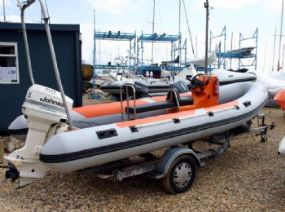 Click to see BWM 5.5m RIB with Johnson 90HP Engine