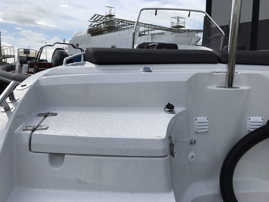 Stock - 1460 - Finnmaster 55 SC Day Boat with Yamaha F70HP Outboard Engine - Stern lockers