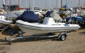 Click to see Used Ballistic 5.5m RIB with Evinrude 90HP ETEC Engine