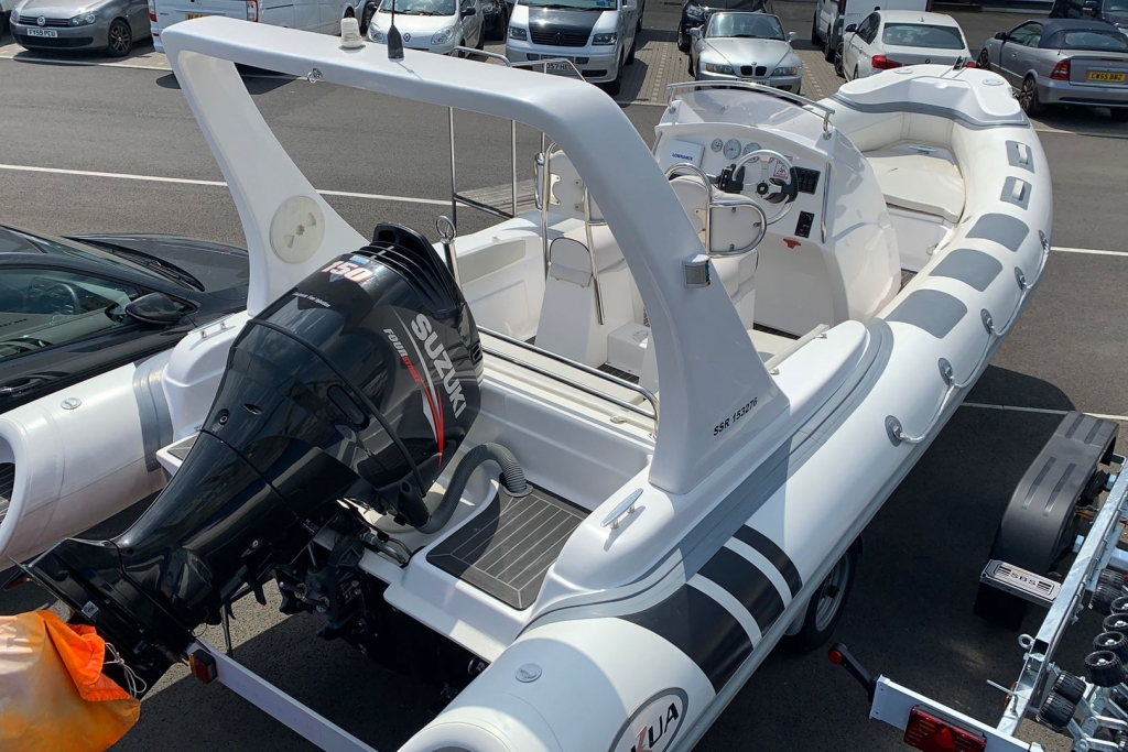 1662 - SKUA 6.5 RIB WITH SUZUKI DF150 ENGINE AND TRAILER_2