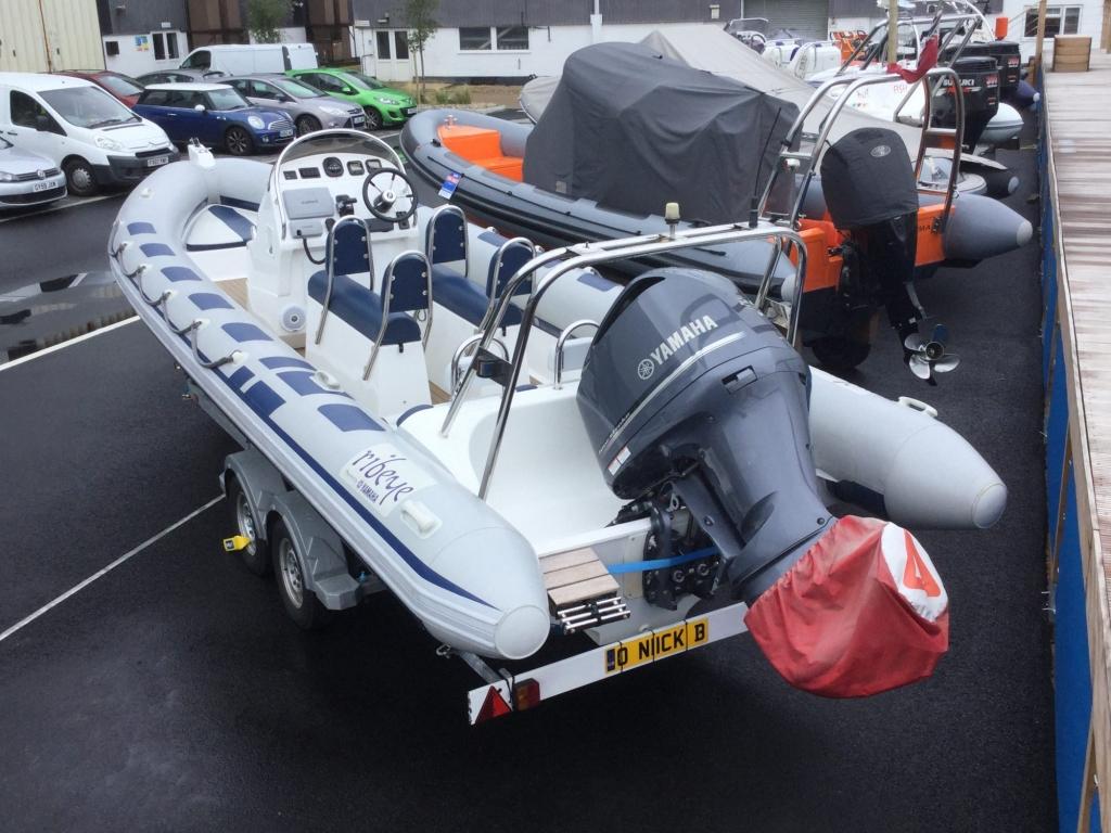 Brokerage - 1526 - Ribeye 785 S RIB with Yamaha F250 engine and trailer - Portside aft 1