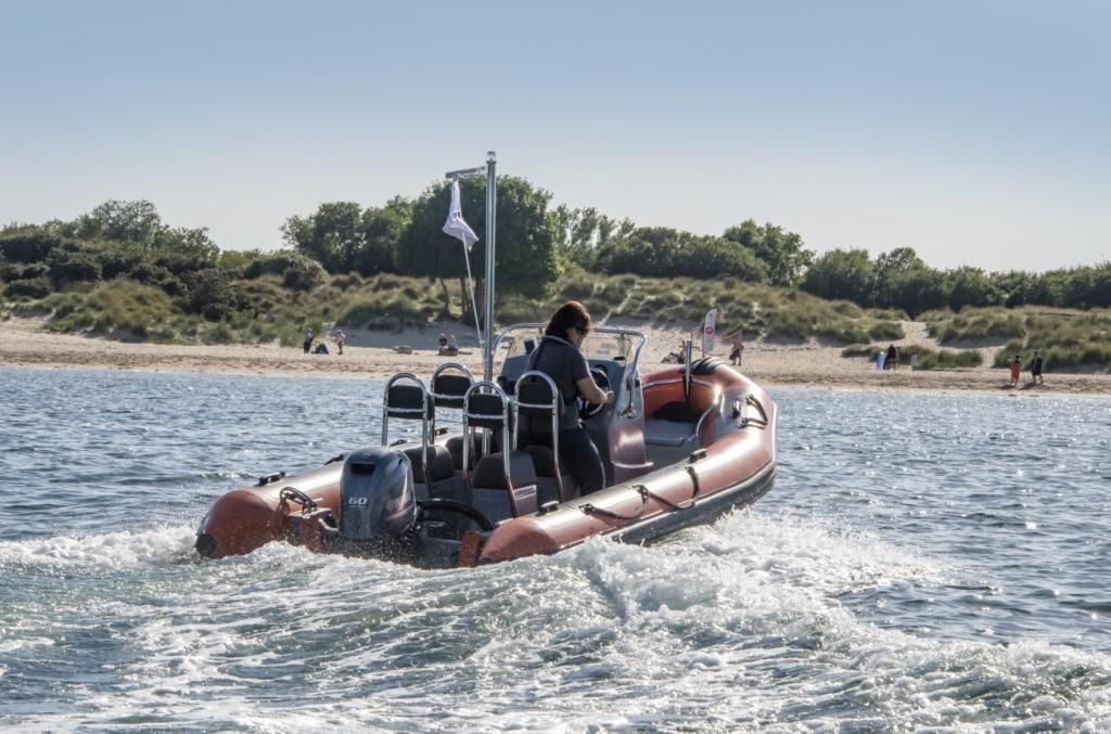 Ballistic 5.5 RIB Launch with Yamaha FT60 engine Poole Beach 2 (Large).jpg